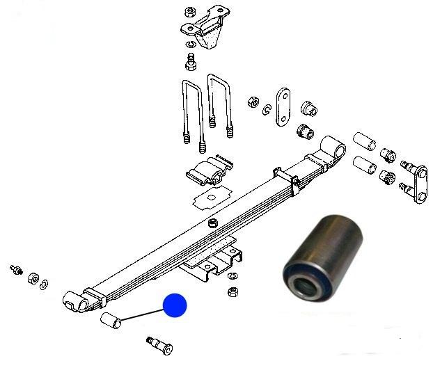Cайленблок передний задней рессоры  ISUZU NPR75/NQR90/NQR75/NQR71/NLR85/NKR55/NMR85