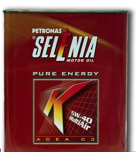 Синтетическое моторное масло SELENIA K PURE ENERGY 5W-40 2литра.