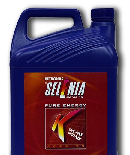 Синтетическое моторное масло SELENIA K PURE ENERGY 5W-40 5литров.