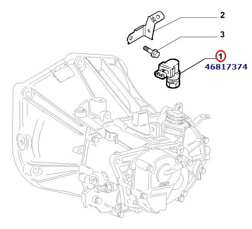 Датчик скорости (спидометра) МКПП Fiat Doblo/Albea
