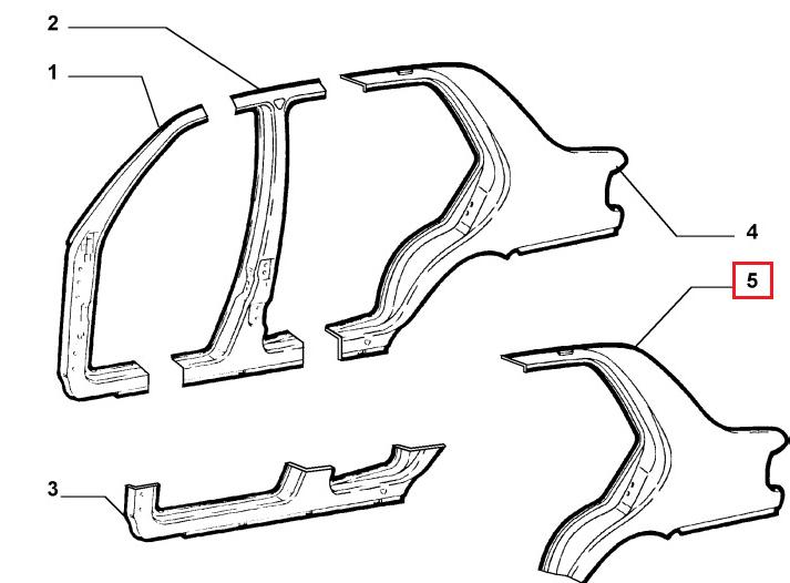 Крыло заднее левое Fiat Albea