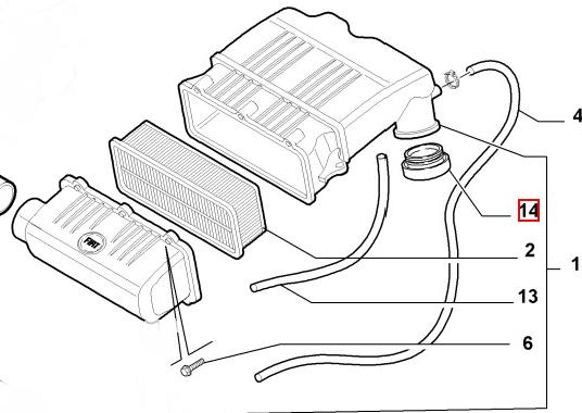 корпус воздушного фильтра fiat albea ремонт