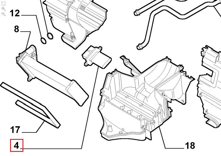 резистор печки фиат добло