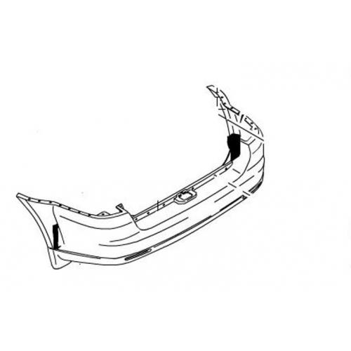 Бампер задний (под расширитель) Rexton II