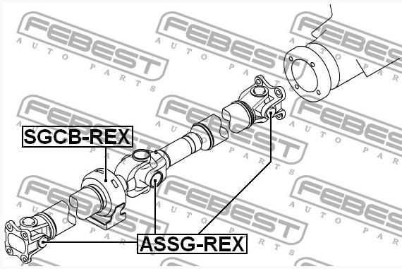 Крестовина карданного вала (27x81.75) SsangYong Rexton/Kyron/Actyon