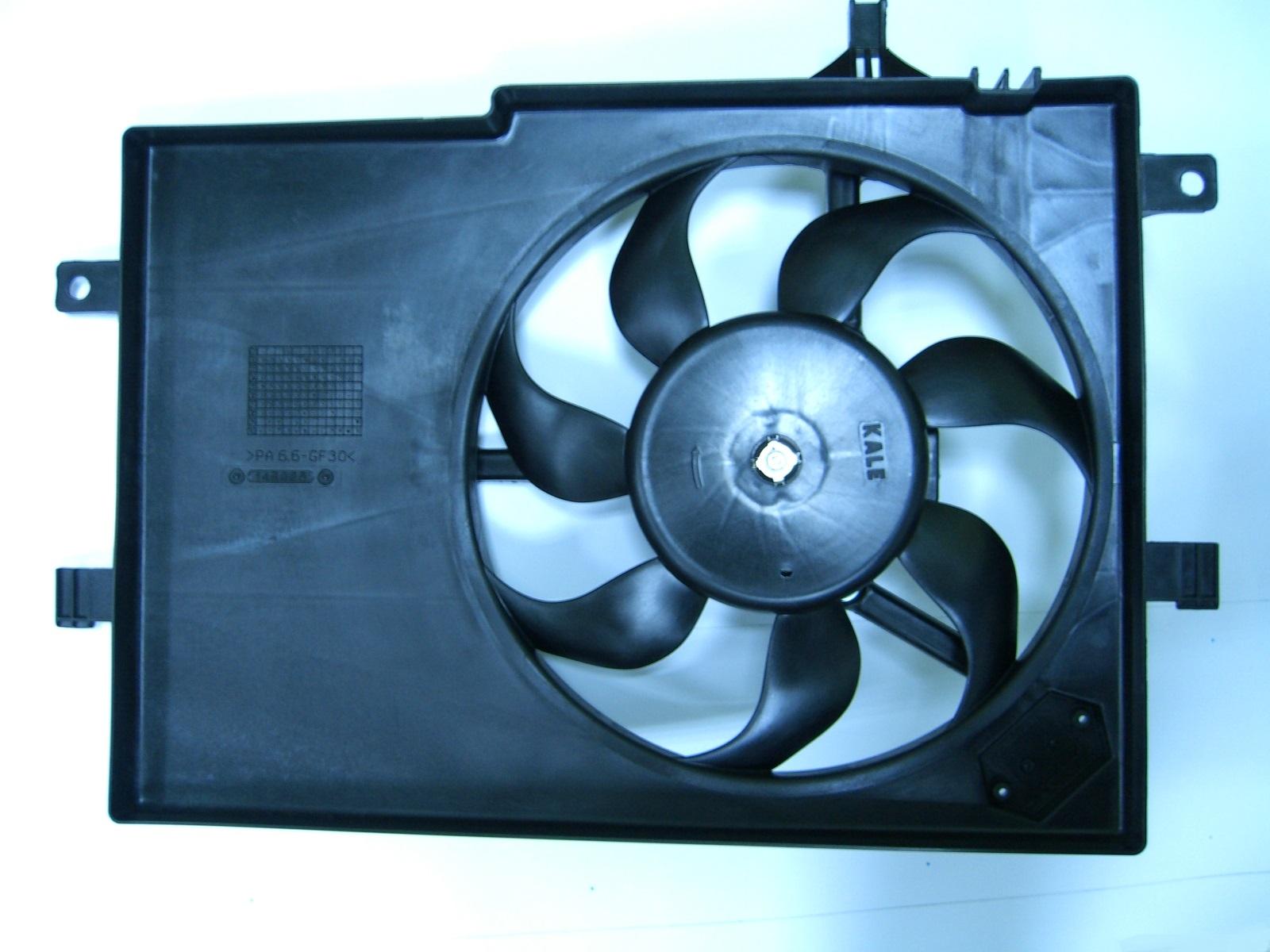 Вентилятор радиатора охлаждения с диффузором Fiat Albea Russia (-AC)
