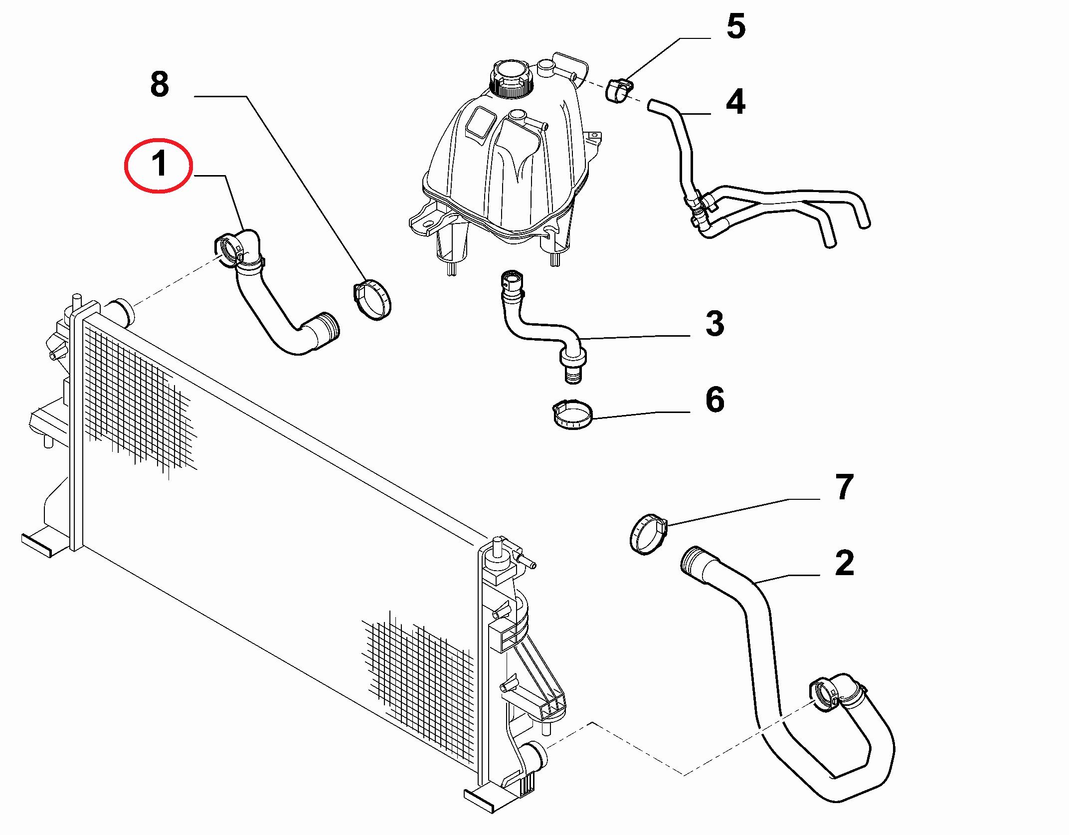 Патрубок радиатора верхний Fiat Ducato(250) 2.3JTD