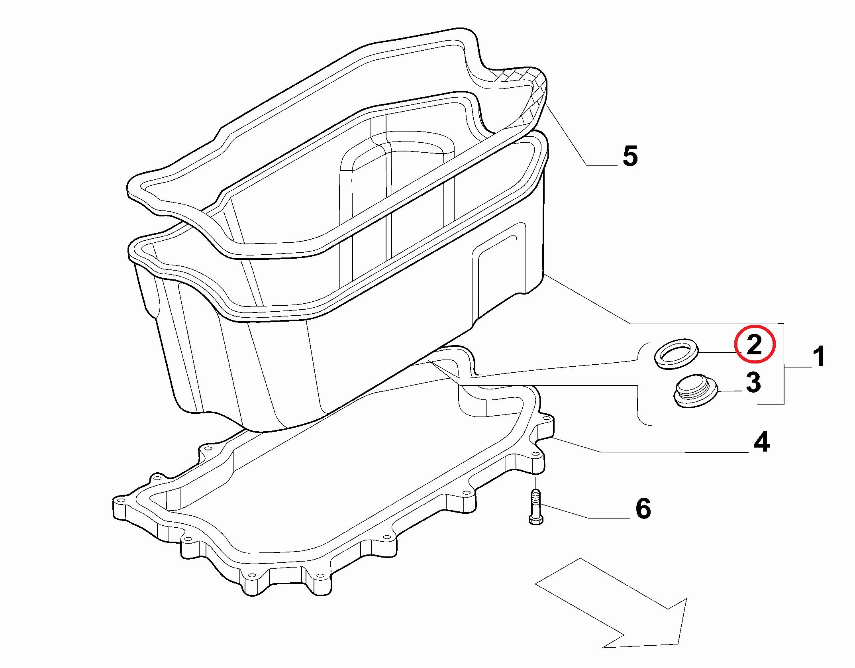 Кольцо уплотнительное сливной пробки Fiat Ducato Russia
