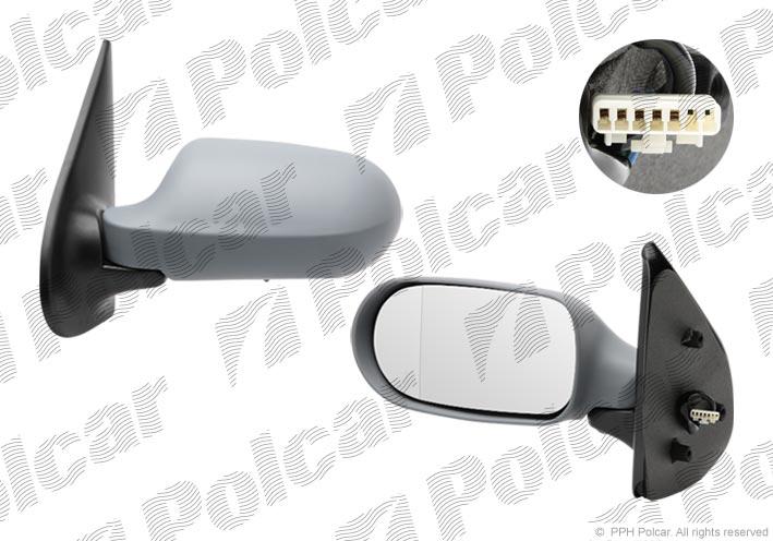 Зеркало левое без обогрева с датчиком температуры (электрическое) Fiat Albea Russia
